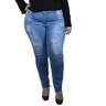 calca plus size jeans destroyed