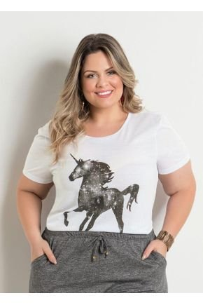 t shirt branca estampa unicornio plus size 277062 600 1